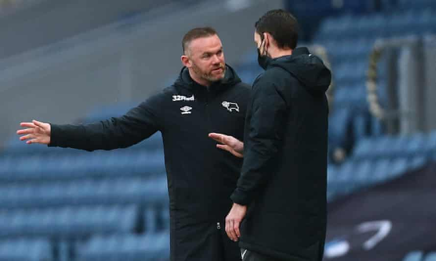 Wayne Rooney rages at referee after Derby's survival bid hit at Blackburn